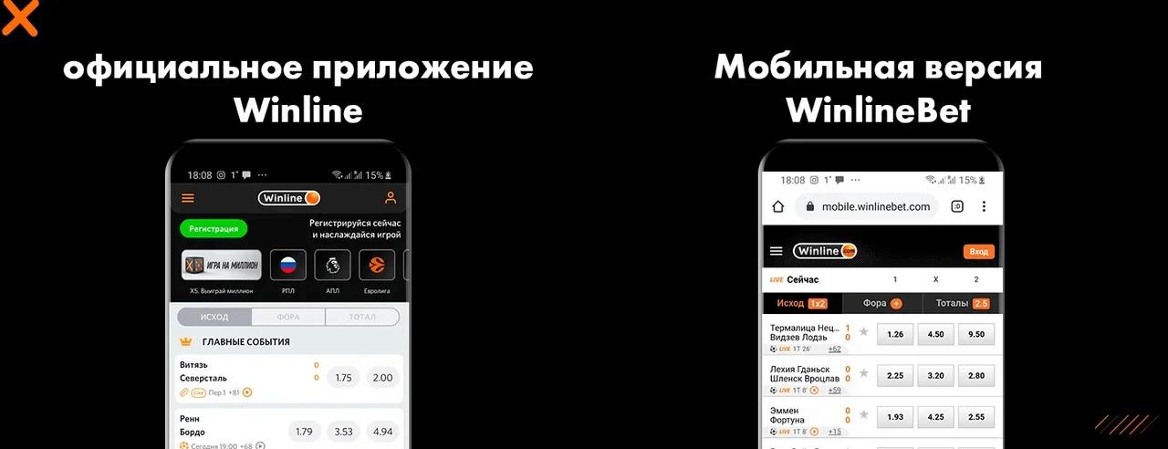 Мобильная версия WinlineBet и официальное приложение Winline